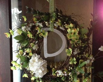 Customized Initial Wreath