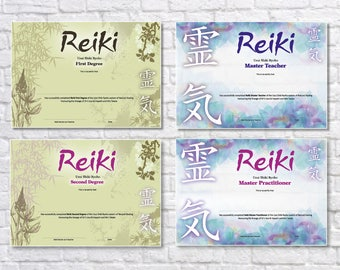 Reiki certificates etsy stunning a4 professional reiki certificates yadclub Image collections