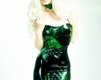 LaTeX mini dress, tube glitter dress - colour choice