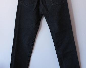 Vintage Calvin Klein Black Jeans 90s Denim Women's Pants size 3 small W26