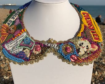 Large Bead Embroidered Collar