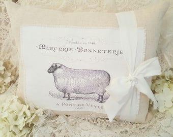 French Farmhouse Sheep Pillow
