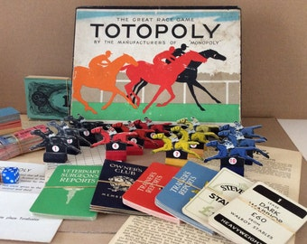 Totopoly vintage board game for spares or replacements