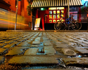 Temple bar-Dublin, Ireland, Urban, long exposure, street photography, travel, night scape, Fine Art Photography