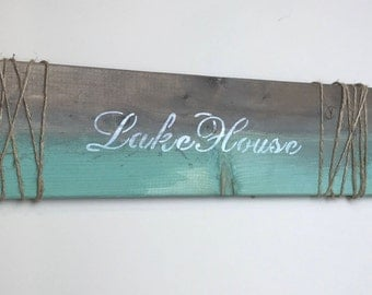 Handmade Home Decor Sign, lakehouse, cottage, rustic, shabby chic