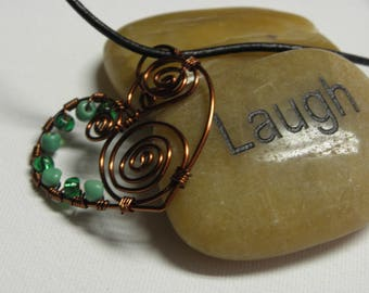 Twisted Heart copper and greenerie