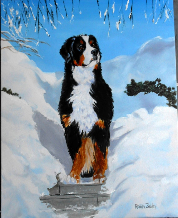 Custom Dog Portrait Oil Painting - Christmas Gift Idea