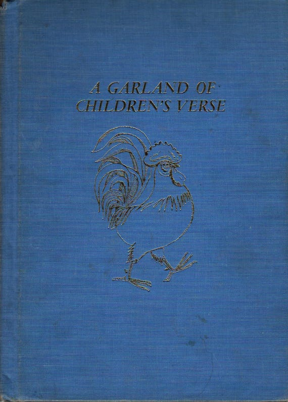A Garland of Children's Verse + Barbara Taylor Bradford + Ota Janecek + 1960 + Vintage Kids Book