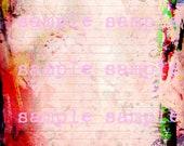 Téléchargement numérique Télécharger Mixed Media abstraite peinture Mandala henné Coloring Page Journal Page fixes doublé papier Scrapbook