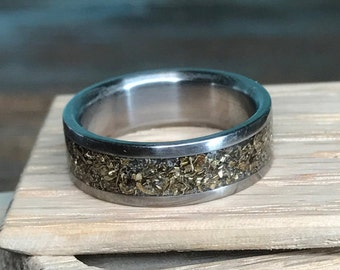 Titanium Ring, Gold Ring, Wedding Ring, Mens Ring, Womens Ring, Handmade Ring, Eco Friendly Ring, Recycled Ring, Gold Wedding Ring, Engraved