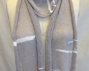 Sheer Scarf White