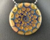 Glass Pendant Silver Gold Fume Flat Hollow (9) - Dan Rushin