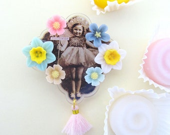 Vintage Fairy Brooch and gift box