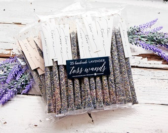 Lavender Wedding Toss - Confetti Wand Alternative  - Outdoor Petal Send Off - Flower Toss - Toss Me Tags included - 25 tubes per pack