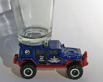 The ORIGINAL Hot Shot, Shot Glass, Jeep Wrangler Superlift, Matchbox vehicle