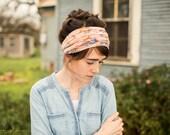 Sweet Cream Rose Cowl Headwrap - Garlands of Grace headband scarf convertible headcovering