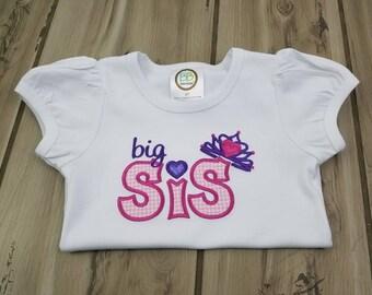 Big Sister Shirt ~ Personalized Big Sister Gift ~ New Sibling Shirt ~ Crown Shirt ~ Coming Home Shirt ~ Big Sister Announcement Shirt