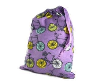Birthday Gift Bag, Drawstring Knitting Bag, Bicycle Bag