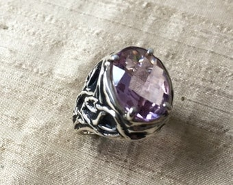 Amethyst and Sterling Silver- The Tangled Vine Ring