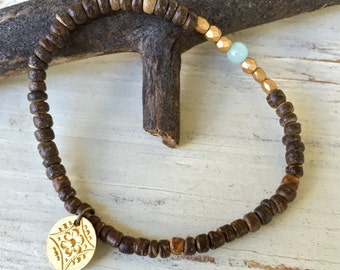 Beaded stretch bracelet,minimalist bracelet,tiny gemstone bracelet,simple bracelet,bohemian stacking bracelet. Tiedupmemories