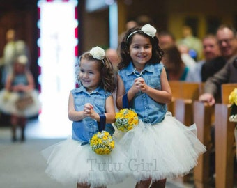 Flower Girl Tutus, Flower Girl tutu For girls, Wedding Tutu - CUSTOM COLOR