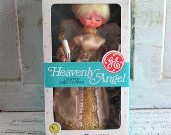 Vintage GE Heavenly Angel Lighted Christmas Tree Topper