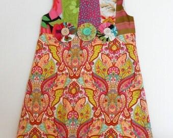 Size 5 Girls Colorful Dress