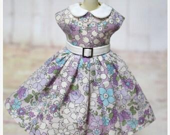 LADYBIRD HOUSE Blythe Outfit Retro Dress - Purple Flower