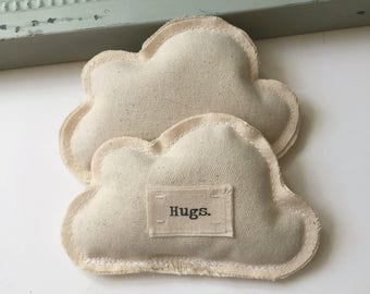 little pillow cloud lavender Hugs sachets, cotton lavender sleep, dream, aromatherapy sachets,  Little stuffed fabric cloud ornaments- No.68