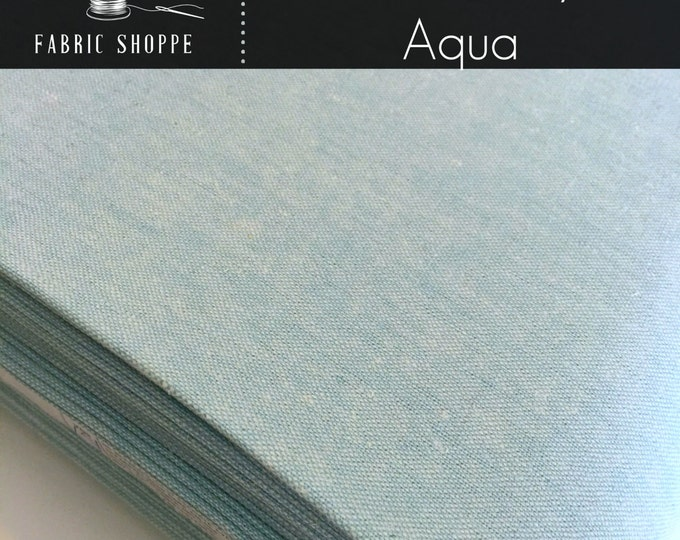 Essex Linen, Essex Yarn Dyed, Apparel Fabric, Aqua Dress fabric, Light fabric, Linen fabric, Robert Kaufman, Essex in Aqua