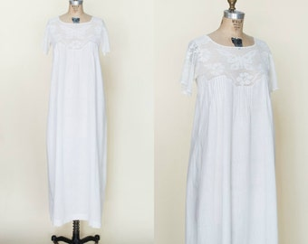 Edwardian Nightgown --- Antique Mint 1900s Gown