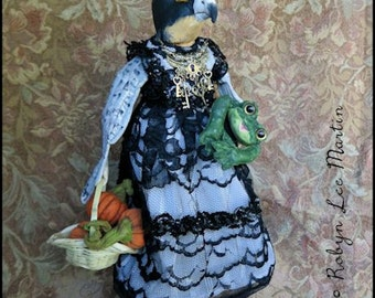 Soft Sculpture OOAK Peregrine Falcon Art Doll