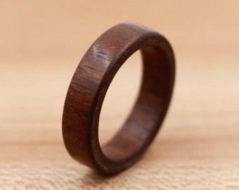 Cumaru Wood Ring - Custom Wood Ring - Unique Wedding Ring - Wedding Ring - Wooden Ring - Mens Jewelry - 5 Year Anniversary