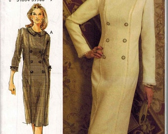 Vogue 8112 Sewing Pattern Sizes 6-8-10 Faux Double Breasted Dress for Wool or Boucle