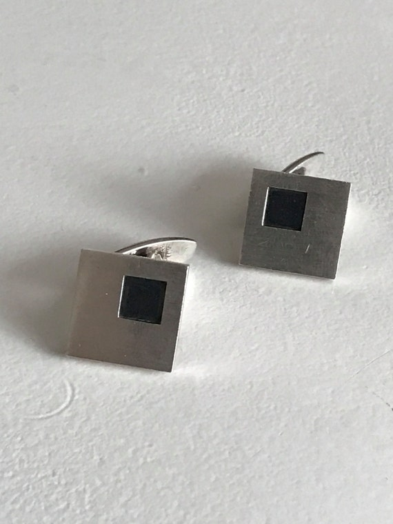 1965 Sterling Silver Niels Erik From Danish Silver Cufflinks (N E From of Denmark)