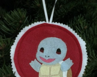 Pokemon Squirtle Tree Ornament, Wall Art, Patch, Accessory Christmas Gift Stocking Stuffer