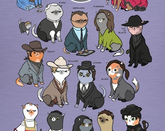 Westworld Cats - 9x12in. print