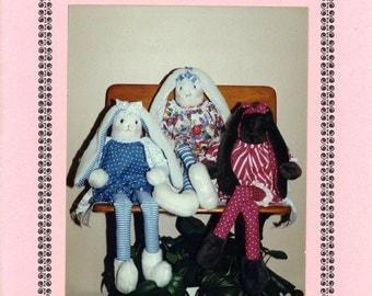 Joy Bugs Bunnykins L.L. Bugs Long Legged Bunny Rabbit Stuffed Fabric Toy Decoration Uncut Vintage Sewing Pattern 1991