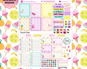 Tropical Days Planner Stickers~