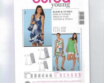 Misses Sewing Pattern Burda 7390 Dress and Tunic High Easy Ruffle Sharkbite Size 6 8 10 12 14 16 18 20 UNCUT