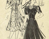 Mail Order 3373 1940's Vintage Sewing Pattern Ladies' Dress 32 Bust- FREE Pattern Grading E-book Included