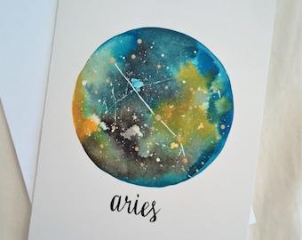 CARD -Aries Zodiac