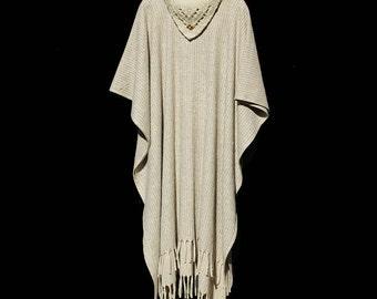Tan Wool Blanket Ponchos cape