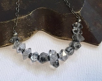 Quartz Crystal Necklace Choker Layering Stacking