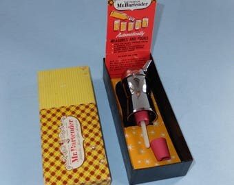 Mr. Bartender Chrome Jigger Pourer New in Box With Insert 1950s