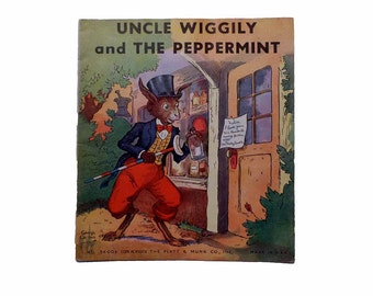 Uncle Wiggily And The Peppermint by Garis Howard Illustrated by George Carlson 1st Edition Softcover Linen Platt & Munk 1939 Book No. 3600E