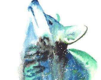 Coyote Spirit Totem Animal ORIGINAL Watercolor 9X12