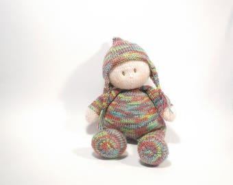 Jo-Jo Baby Doll Knitting Pattern