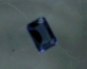 Loose Gemstone,Brilliant Blue,AAA Tanzanite, 1.0ct+, 7x5mm, Faceted, Emerald Cut, Sealed
