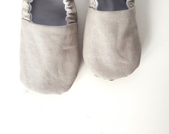 Baby Shoes, Baby Moccasins, Childrens Indoor Shoes, Classic Collection - Ash Gray